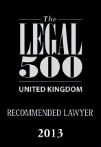UK recommended lawyer 2013